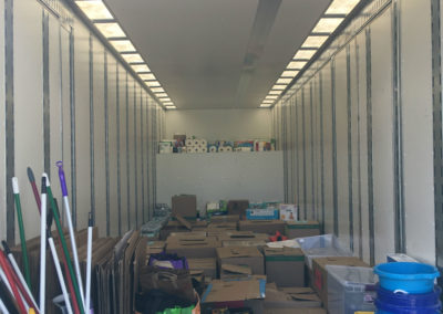 Moving Truck Full Of Donations